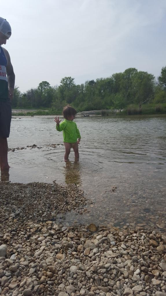 Cella skips rocks